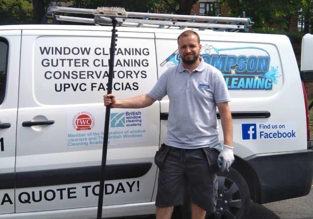 thompson pro cleaning vehicle